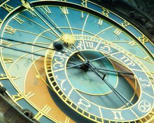 Close up detail of bohemian astronomical clock